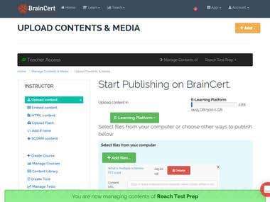 Managing BRAINCERT (LMS)- Adding Course Materials
