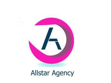 Allstar Agency Logo and Business Card