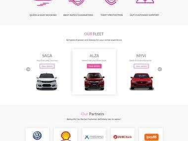 NV Car rental website