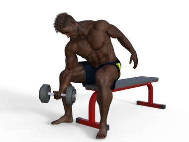 3d gym animation videos and images