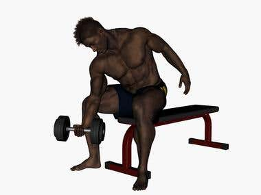 3d animated gym exercises animation