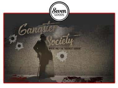 """Banner Design for """"Gangster Society"""""""