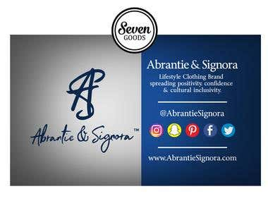 Business Card Design for Abrantie Signora