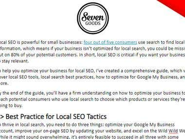Local SEO Guide for Freelancer Client