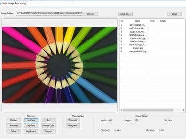 Image Filtering using CUDA