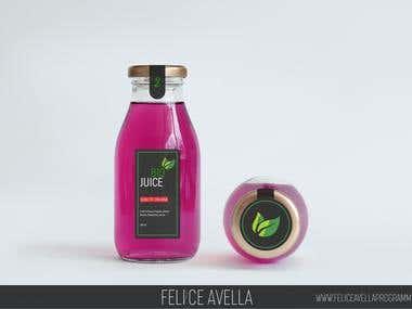 MockUp juice bottle packaging