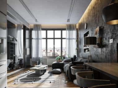 70m Studio at new capital city designed for 4 Persons