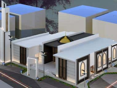 Visualizing mosque project and design