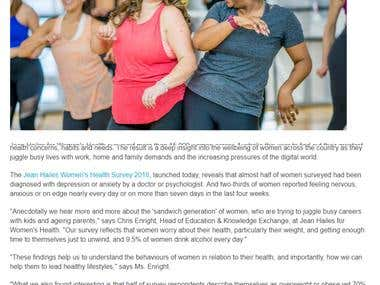 Launch of Women's Health Survey and Women's Health Week