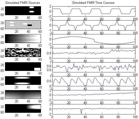 Blind Source Separation of fMRI Images