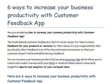 6 ways to increase your business productivity with Customer
