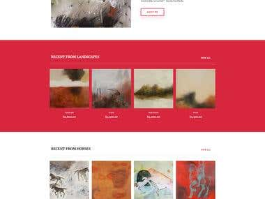 E-commerce website for artist