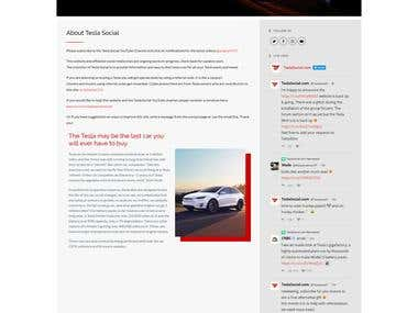 official website for tesla social