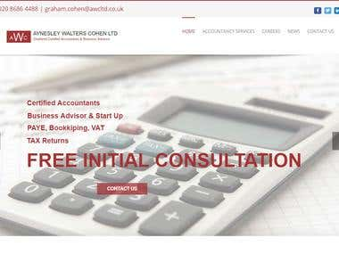 website design for Accountants Company