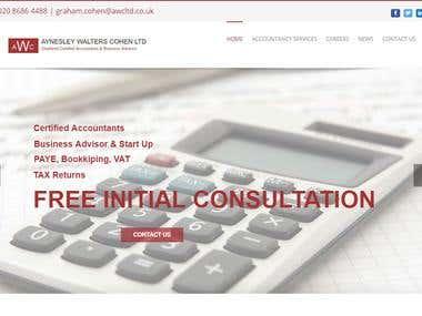 website design for Accountants Company