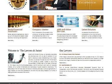 The Lawyers & Jurists website design.