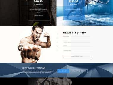 GYM Website Mock up