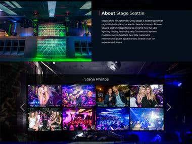 Website design and development for night club