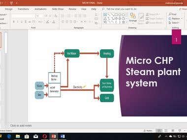 Presentation on Micro CHP steam plant system
