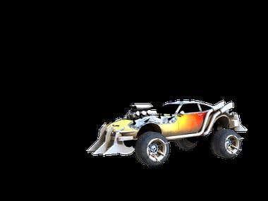 Combat car model