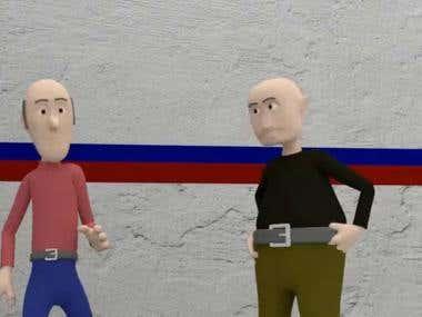 Design of animated cartoons