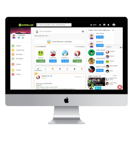 Social media platform with live chat and discussion forum