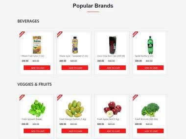 web designing E-commerce site