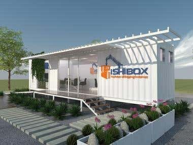 Architectural Design of an Office Using a Shipping Container