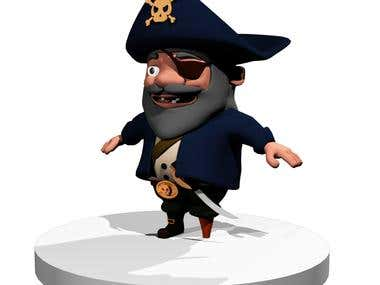Pirate for video game
