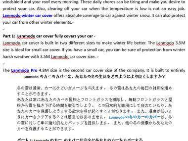 English->Japanese translation for Lanmodo Pro