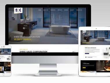Interior decorator Website -Wordpress