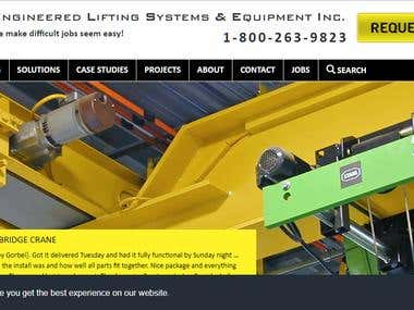 Sales oriented site for lifting cranes.. very successfull