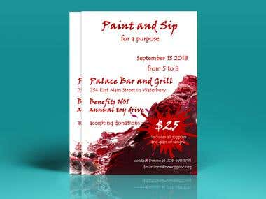 Paint & Sip Event Flyer