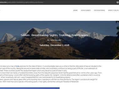 Travel Writing - Sikkim