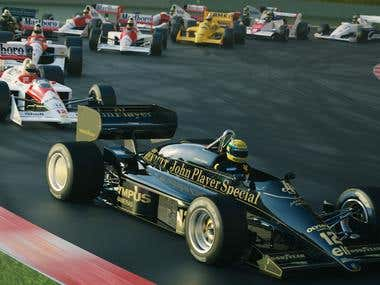 Ayrton Senna and his cars.