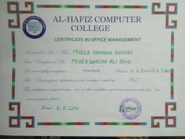 Certificate of Microsoft Office Management