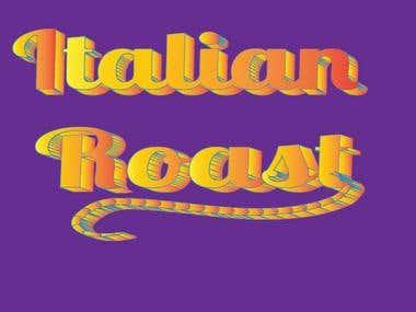 Text 3D font Logo