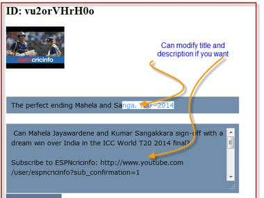 PHP script Youtube videos auto poster to a blog
