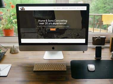 Website For Hume & Sons Concreting