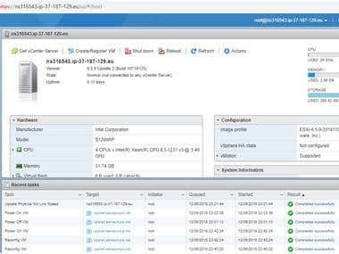 Bare-metal server with VmwareExsi for Private Cloud