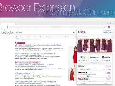 Design Browser Extension for Cashback Company