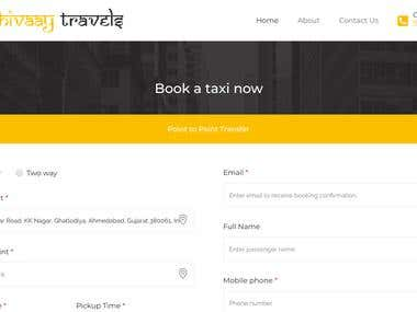 Wordpress Taxi Booking Site