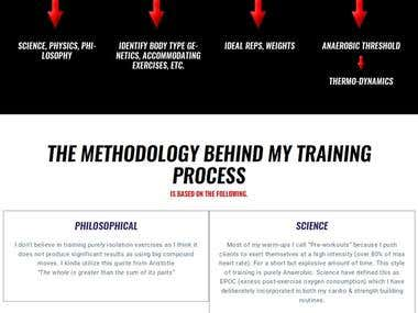 Gym Coach and Personal Trainer Website