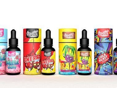E liquids designs COLA BLAST,MANGOSTEEN,BUBBLEGUM,CHERRY