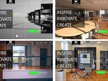 ICC Architecture web design.