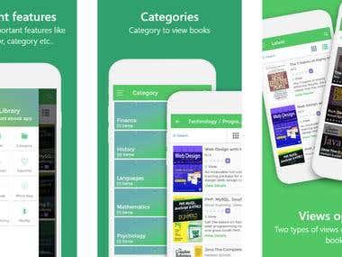 App screenshot for a library app.