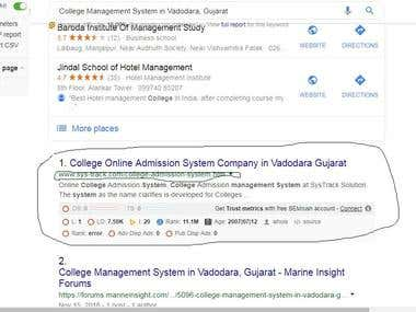 Google.co.in first page