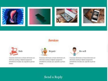 Responsive website with Bootstrap4