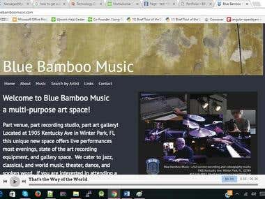 Blue BamBoo Music Word Press Site