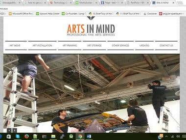 Arts in Mind is Wordpress site.